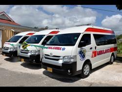 The three retrofitted ambulances.