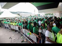 Labourites turned up at the National Arena for the Jamaica Labour Party's 76th annual conference in their tens of thousands.