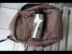 Abigale Rowe school bag and her water bottle that were retreived from the accident.