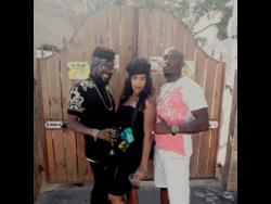 Beenie Man (left), Double K (centre) and 2K Ponce Juno.