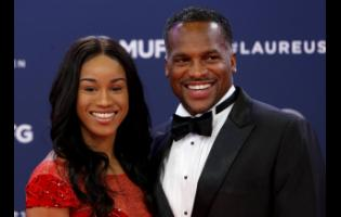 Claude Paris Photos Former sprint star and now coach Ato Boldon arrives with young Jamaican sprinter Briana Williams for the 2019 Laureus World Sports Awards yesterday in Monaco. Williams was nominated for Breakthrough Athlete of the Year. The award was presented to US Open champion Naomi Osaka.