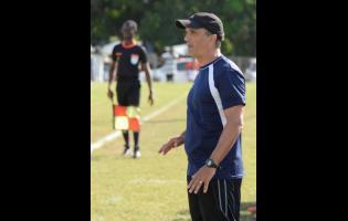 Ian Allen Montego Bay United head coach Luciano Gama.