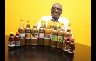 Trevor Farquharson with some of his products.