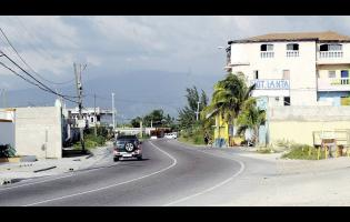 A section of Port Henderson Road, better known as 'Back Road', in Portmore, St Catherine.