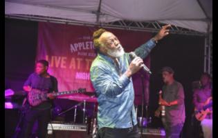 Freddie McGregor in full flight as he delivers another hit at Live at the Estate.