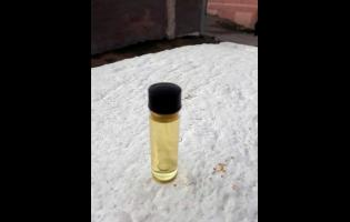 A vial of the healing oil.