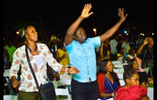 Worshippers salute the Almighty God at Reggae Wednesdays.