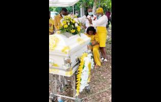Mourners tearfully bid little Tiziana Blake farewell.