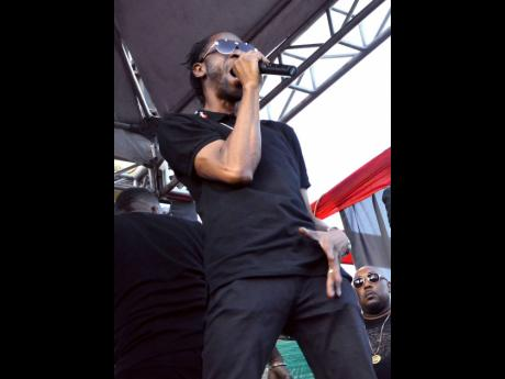 Bounty Killer thrills the audience at Gangsters In Black.