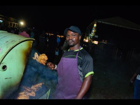 Pan chicken vendor Kedley Morrison.