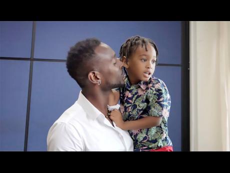 Dwayne Stewart and his son, Soul-Heart.