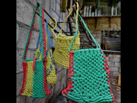 The price for these macramé handbags start at $8,000.