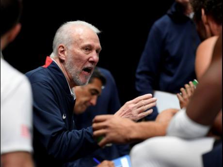 US head coach Gregg Popovich.