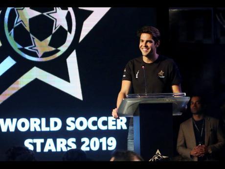 In this Thursday, Jan. 10, 2019 file photo, Brazilian player Ricardo Kaka smiles during a ceremony in Karachi, Pakistan.