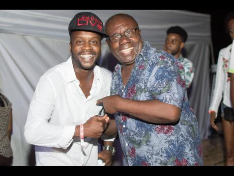 Christopher 'Johnny' Daley (left) and  Jamaica's king of comedy, Oliver Samuels.