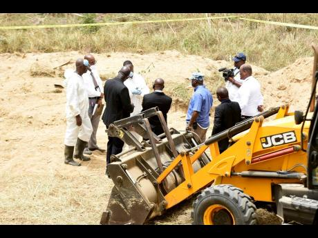 Acting Deputy Commissioner of Police Fitz Bailey said that for approximately two and a half years, the police have been receiving information that there was a possibility that bodies were being buried at a site.
