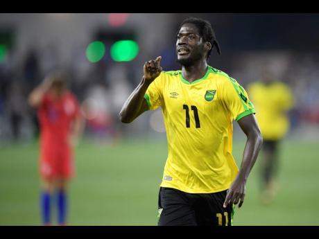 Jamaica's top striker Shamar Nicholson